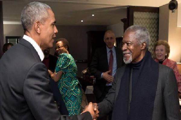 Obama ca ngợi lòng chính trực và sự kiên trì của Kofi Annan