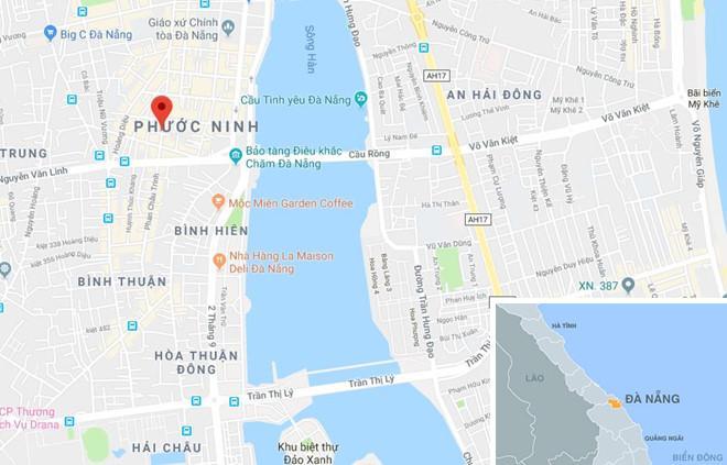 Gần nơi xảy ra vụ việc (chấm đỏ). Ảnh: Google Maps.