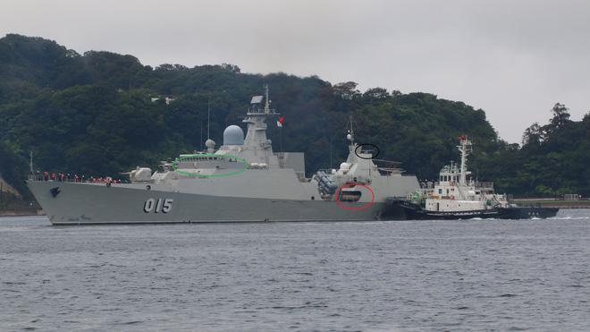 ... và tàu hộ vệ tên lửa 015 Trần Hưng Đạo.