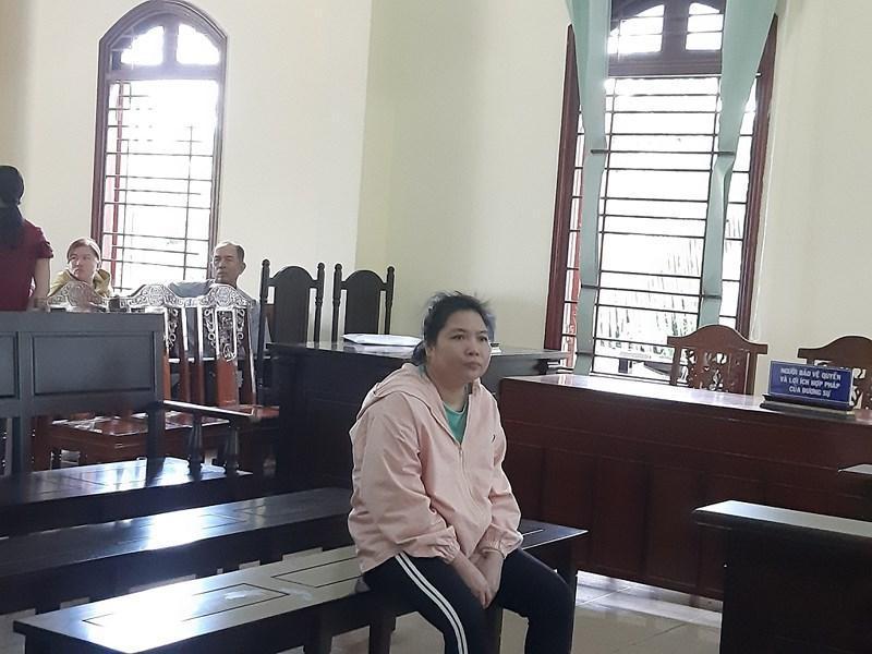 Bị cáo Nguyễn Lan Thùy tại tòa