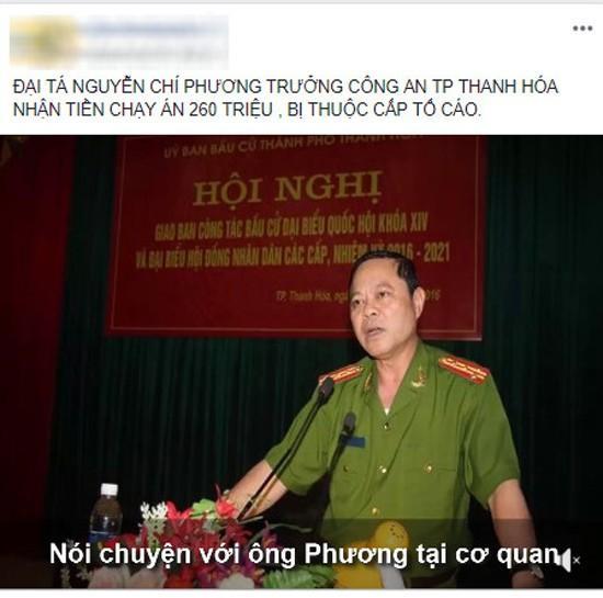 Trưởng Công an TP. Thanh Hóa bị tố nhận chạy án - Ảnh 1.