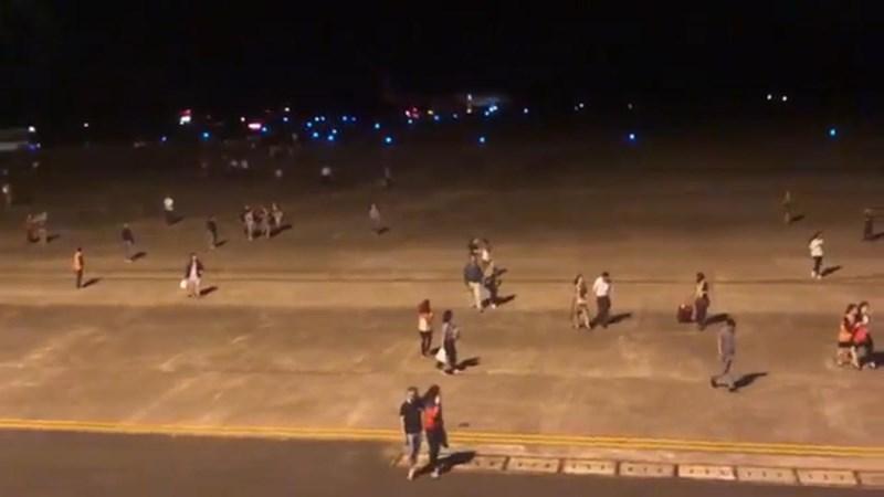 207 hành khách trên chuyến bay củaVietjetAir đã thoát ra ngoài an toàn sau sự cố.