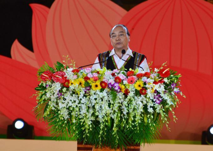 Thủ tướng Nguyễn Xuân Phúc phát biểu khai mạc lễ hội.