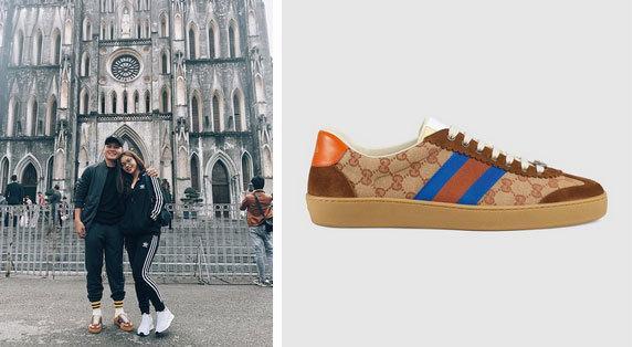 Quang Hải là một trong những cầu thủ sở hữu không ít đôi giày hiệu. Anh cũng sở hữu mẫu G74 Original GG sneaker của nhà mốt Gucci, được bán với giá 650 USD (hơn 15 triệu đồng).