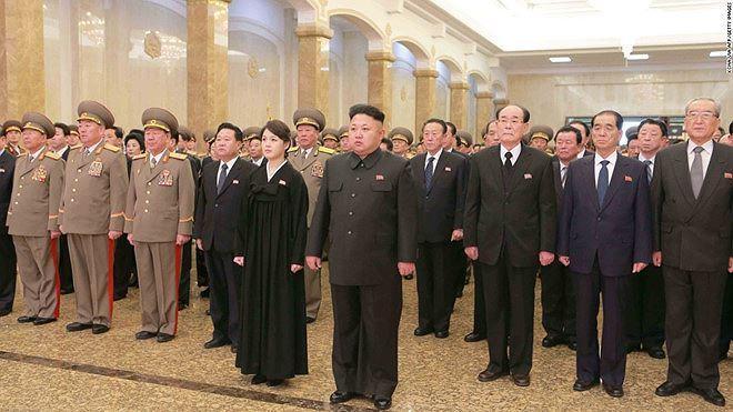 Tháng 12/2014, vợ chồng Chủ tịch Kim Jong Un cùng các quan chức Triều Tiên viếng cố lãnh đạo Kim Jong Il tại Cung điện Mặt trời Kumsusan.