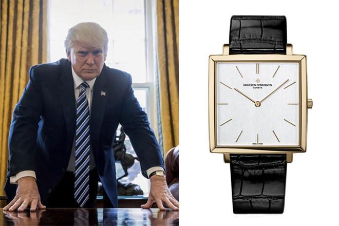 Có vẻ như ông Donald Trump rất yêu thích đồng hồ từ thương hiệu Vacheron Constantin. Ảnh: Getty.