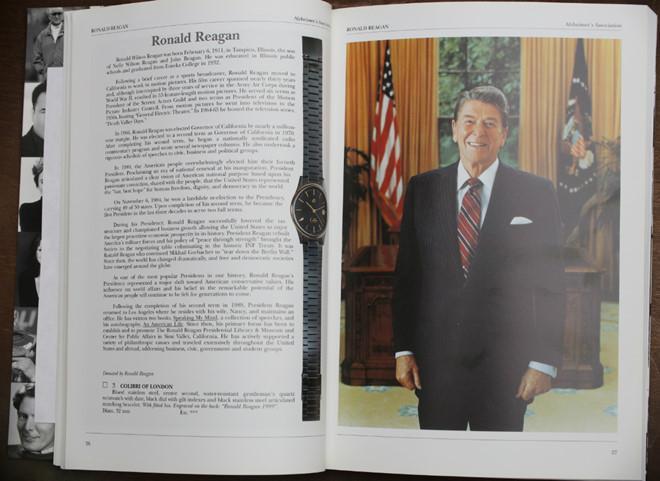 Đồng hồ Colibri của cựu Tổng thống Ronald Reagan. Ảnh: ablogtowatch.