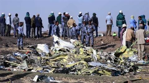 Hiện trường vụ tai nạn của Boeing 737 Max 8 vừa qua