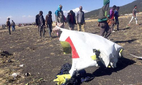 Mảnh vỡ chiếc máy bay Boeing 737 gặp nạn. Ảnh: CNN.