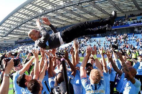 Pep và Man City thống trị bóng đá Anh với cú ăn 3 lịch sử. Ảnh: Getty.