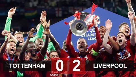 Tottenham 0-2 Liverpool: The Kop lên đỉnh châu Âu