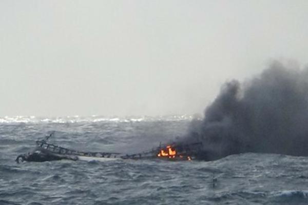 Cháy tàu ở Hàn Quốc, 6 người Việt mất tích