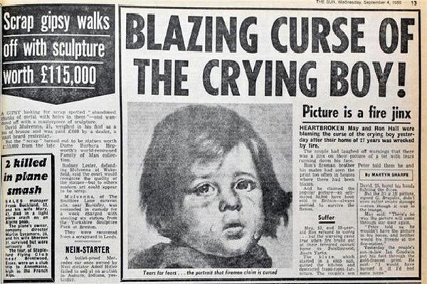 Bí ẩn về bức tranh 'cậu bé khóc', hễ nhà nào treo thì sẽ gặp hỏa hoạn kinh hoàng