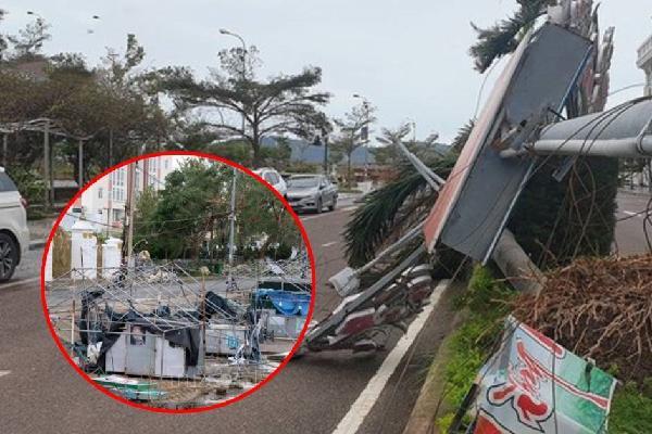 VIDEO: Toàn cảnh sức tàn phá ghê gớm của bão số 9