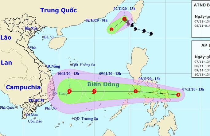 Bão số 11 vừa suy yếu trên Biển Đông, một áp thấp nhiệt đới mới lại sắp vào Biển Đông, khả năng mạnh lên thành bão hướng vào Nam Trung bộ - Nguồn: Trung tâm Dự báo khí tượng thủy văn quốc gia.