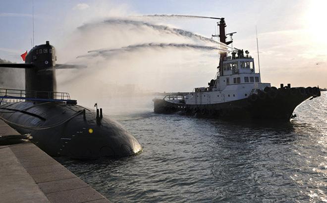 Tàu ngầm tấn công của Hải quân Trung Quốc. Ảnh minh họa: AP.