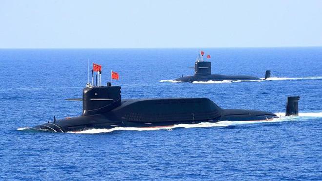Hai tàu ngầm hạt nhân Type 094A của Trung Quốc. Ảnh: Reuters.