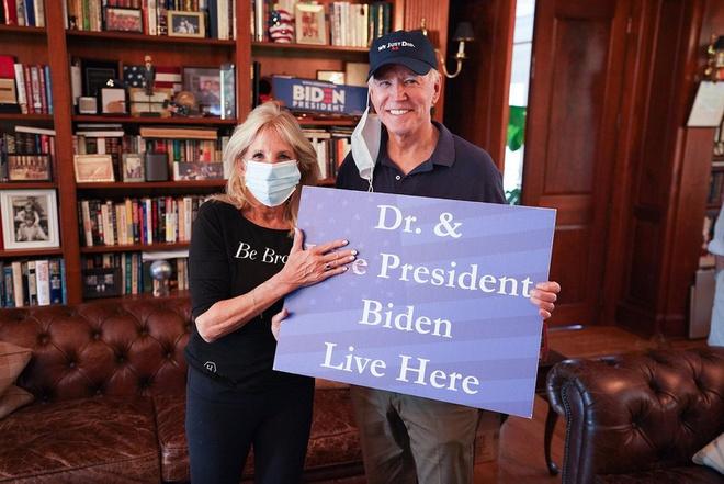 Bức ảnh được bà Jill Biden đăng lên Twitter. Ảnh: Twitter.