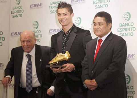 Ronaldo bán đấu giá cả Chiếc giày vàng châu Âu của mình để làm từ thiện