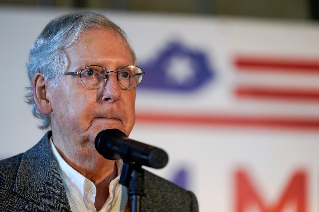 Lãnh đạo Đa số Thượng viện Mitch McConnell vẫn chưa lên tiếng về kết quả của cuộc bầu cử. Ảnh: Reuters.