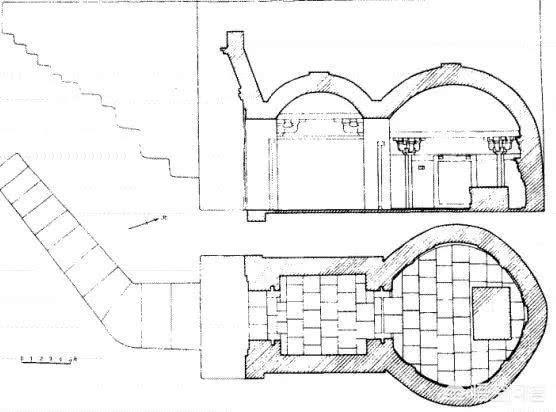Cấu trúc lăng mộ của Trương Văn Tảo. Ảnh: Sohu