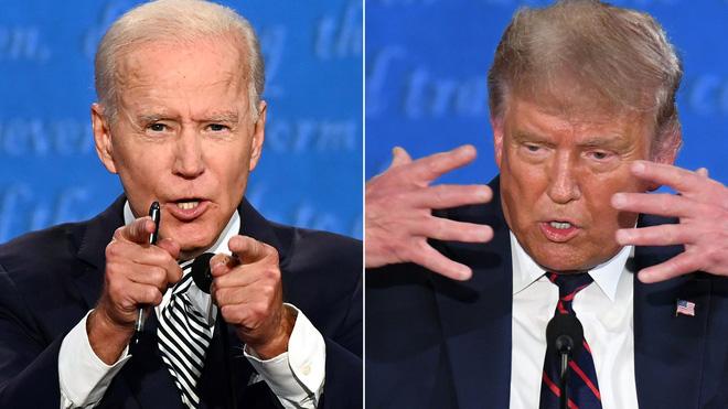 Ứng viên đảng Dân chủ Joe Biden và Tổng thống Donald Trump. Ảnh: Axios.