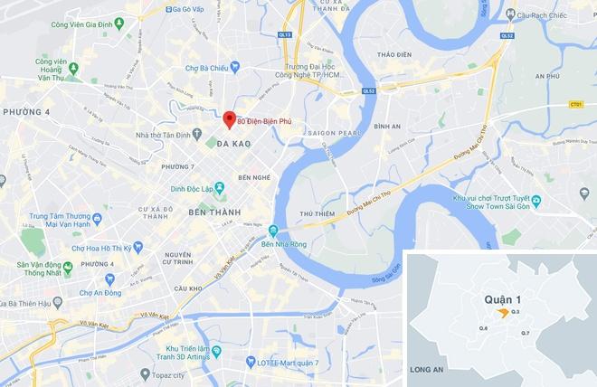 Vụ tai nạn xảy ra trước nhà số 80 đường Điện Biên Phủ, phường Đa Kao, quận 1, TP.HCM. Ảnh: Google Maps.