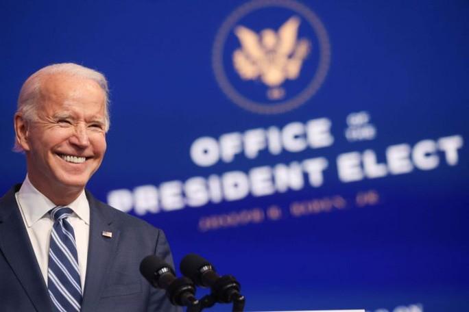 Ông Biden phát biểu tại bang Delaware hôm 10/11. Ảnh: Reuters.