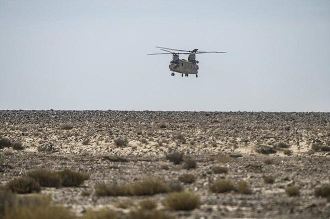 Một chiếc trực thăng của lực lượng gìn giữ hòa bình quốc tế ở bán đảo Sinai của Ai Cập. Ảnh: AFP.