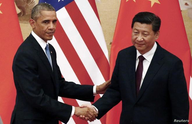 Tổng thống Mỹ Barack Obama và Chủ tịch Trung Quốc Tập Cận Bình. Ảnh: Reuters.