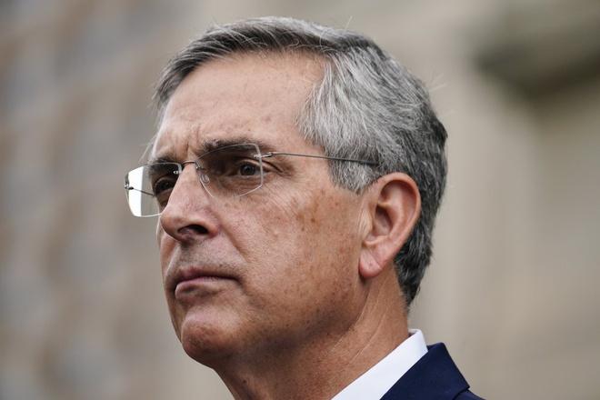 Tổng thư ký bang Brad Raffensperger, người phụ trách công tác bầu cử ở Georgia. Ảnh: AP.