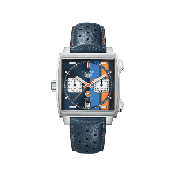 Điển hình là chiếc đồng hồ TAG Heuer Monaco x Gulf phiên bản đặc biệt, chiếc này có giá khoảng hơn 151 triệu đồng.