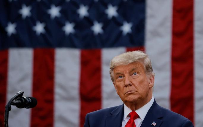 Tổng thống Trump phát biểu tại Vườn Hồng Nhà Trắng hôm 13/11. Ảnh: Reuters.