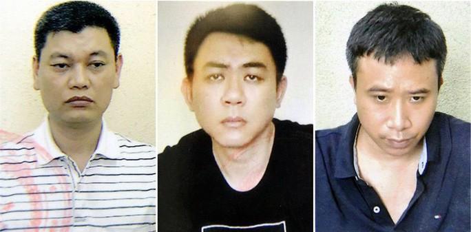Từ trái qua: Nguyễn Anh Ngọc, Nguyễn Hoàng Trung và Phạm Quang Dũng - Ảnh: Bộ Công an.