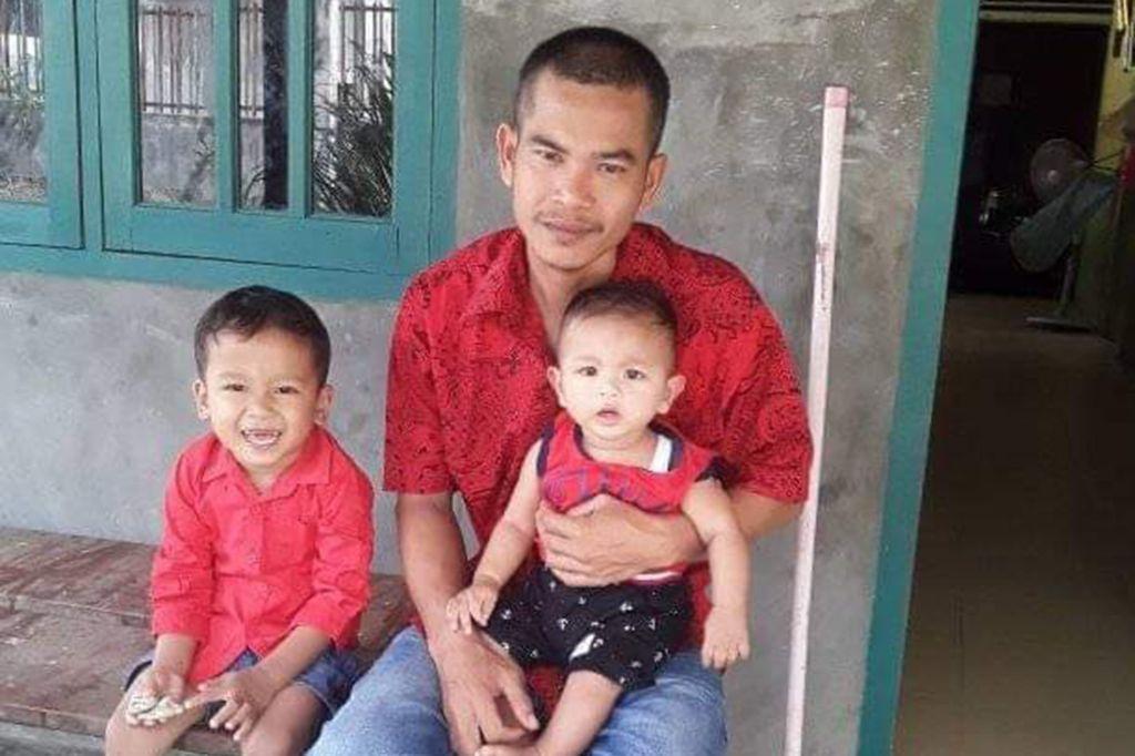 Gia đình Josua Hutagalung tại Bắc Sumatra, Indonesia.