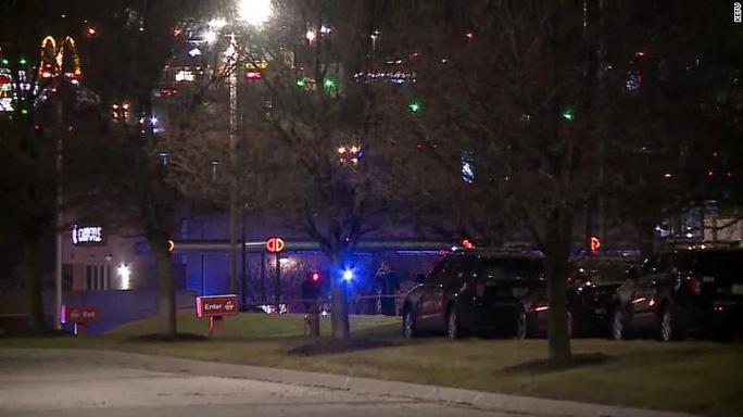 Vụ nổ súng tại TP Bellevue, bang Nebraska xảy ra vào 21 giờ 23 phút tối 21/11 (giờ địa phương). Ảnh: KETV.