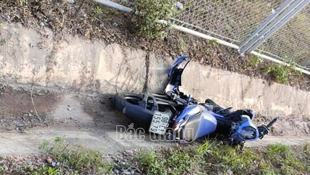 Xe máy trong vụ tai nạn giao thông.