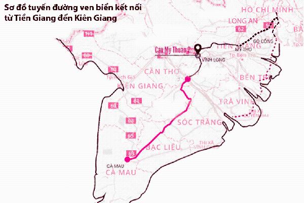 Đường ven biển 700 km thúc đẩy phát triển ĐBSCL