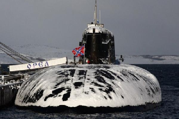 Tàu ngầm 'sát thủ tàu sân bay' Nga lần đầu duyệt binh trên biển