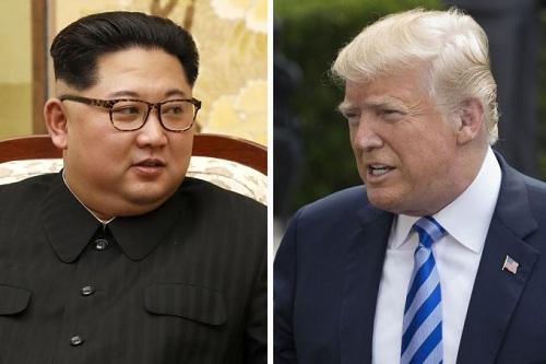 Lãnh đạo Triều Tiên Kim Jong-un (trái) và Tổng thống Mỹ Donald Trump. Ảnh: AFP