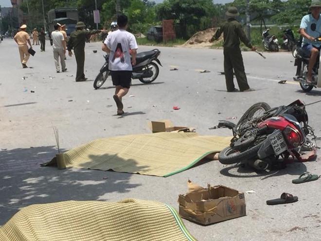 Đối đầu xe tải, 2 thanh niên tử vong tại chỗ