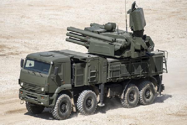 Tổ hợp phòng không Pantsir-S1 Nga bị lật ở Syria