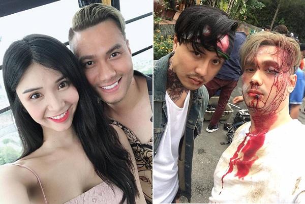 Diễn viên Việt Anh nhuộm tóc vàng trong loạt ảnh hậu trường quay 'Người Phán Xử 2'