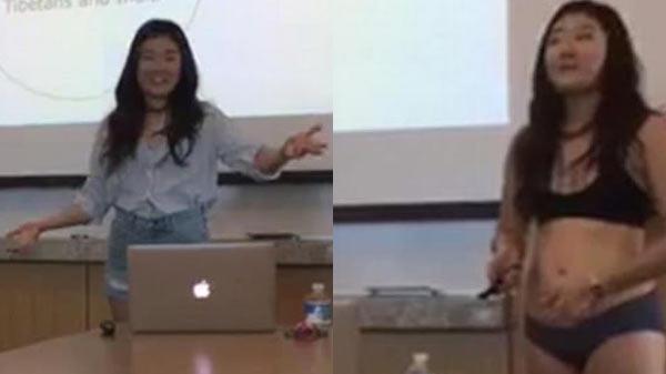 Sinh viên cởi bỏ hết quần áo khi thuyết trình luận văn tốt nghiệp