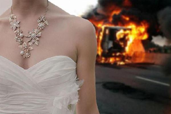 Cô dâu thoát nạn khi máy bay phát nổ