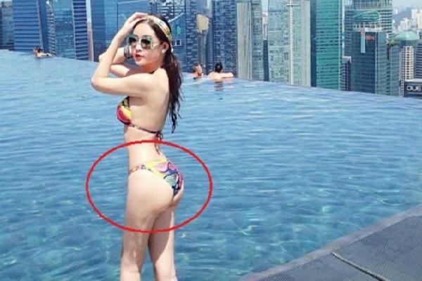 Diện bikini nóng bỏng là thế, Hoa hậu Đại dương Ngân Anh lộ vòng 3 biến dạng, vai u thịt bắp