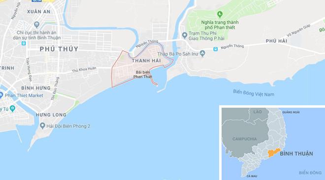 Phường Thanh Hải, nơi xảy ra vụ án mạng. Ảnh: Google Maps.