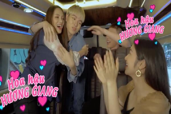 Cả nhà Hoa dâm bụt xuất hiện ủng hộ Hoa hậu Hương Giang 'mang bầu'!