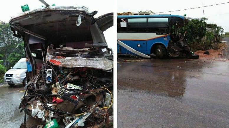 Xe khách đối đầu xe tải, 3 người chết