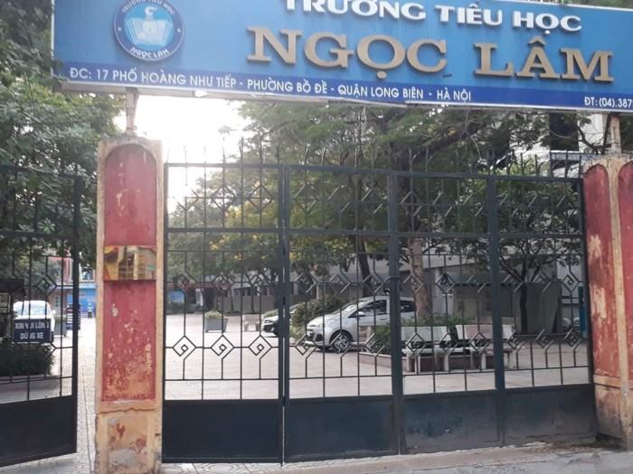 Trường học bị biến thành bãi gửi xe cho... cán bộ